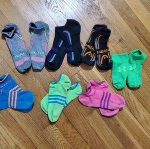 Bundle of athletic ankle socks
